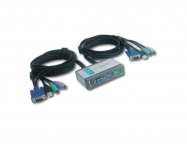 D-Link - 2-Port PS/2 USB KVM Switch
