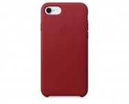 Apple - Capa em pele para iPhone 8/7 - (PRODUCT)RED