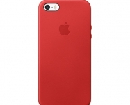 Apple - Capa em pele para iPhone SE - (PRODUCT)RED